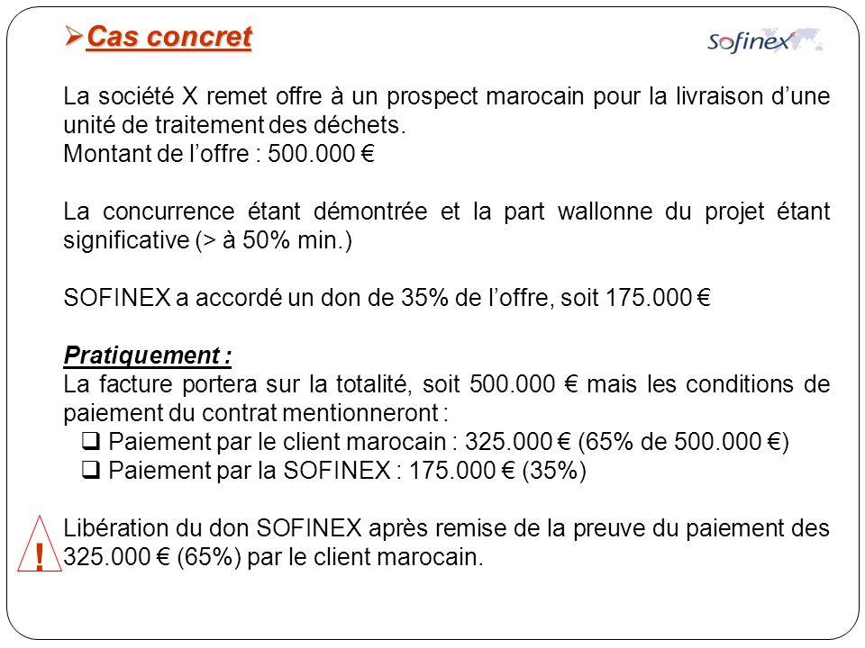  Cas concret La société X remet offre à un prospect marocain pour la livraison d'une unité de traitement des déchets.
