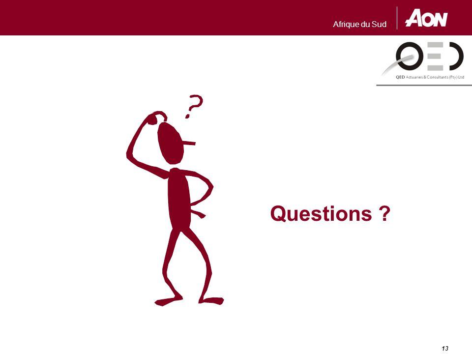 Afrique du Sud 13 Questions ?