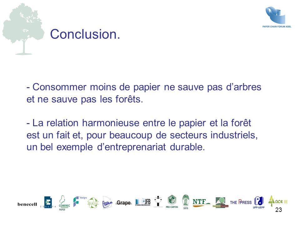 - Consommer moins de papier ne sauve pas d'arbres et ne sauve pas les forêts. - La relation harmonieuse entre le papier et la forêt est un fait et, po