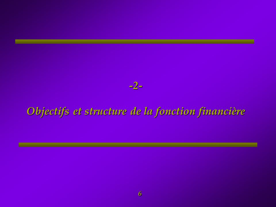 7 2- Objectifs et structure de la fonction financière n Les principaux objectifs de la fonction financière sont : n Gérer les fonds du programme et s'assurer qu'ils sont utilisés conformément à leur objet ; n Veuillez au respect des directives de la Banque Mondiale et de la réglementation nationale en vigueur; n Fournir une information financière fiable sur les activités du projet (états financiers, rapports financiers etc..) pour des besoins internes et externes; et soutenir la gestion et le suivi des Composantes du Programme National afin de garantir l'atteinte des objectifs visés et de présenter des données nécessaires aux utilisateurs du système.