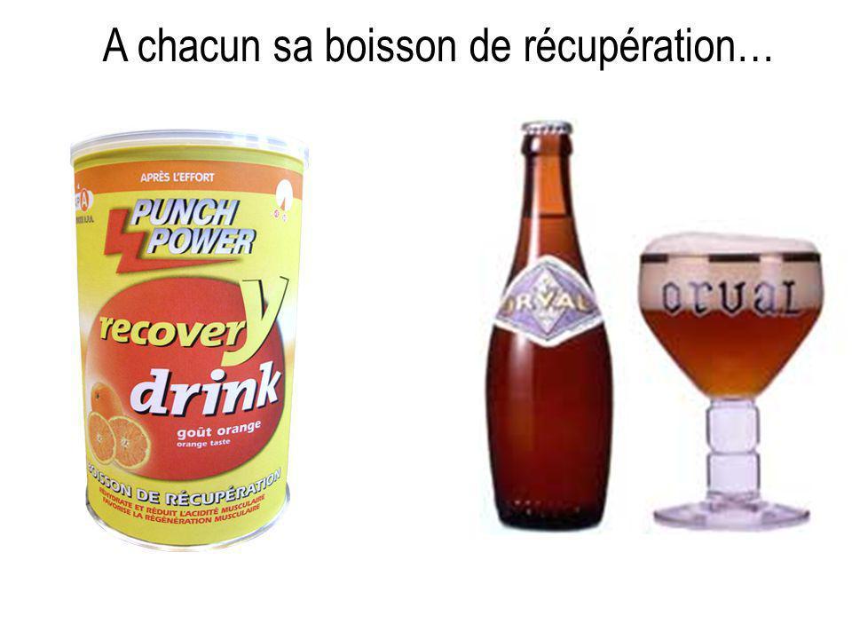 A chacun sa boisson de récupération…
