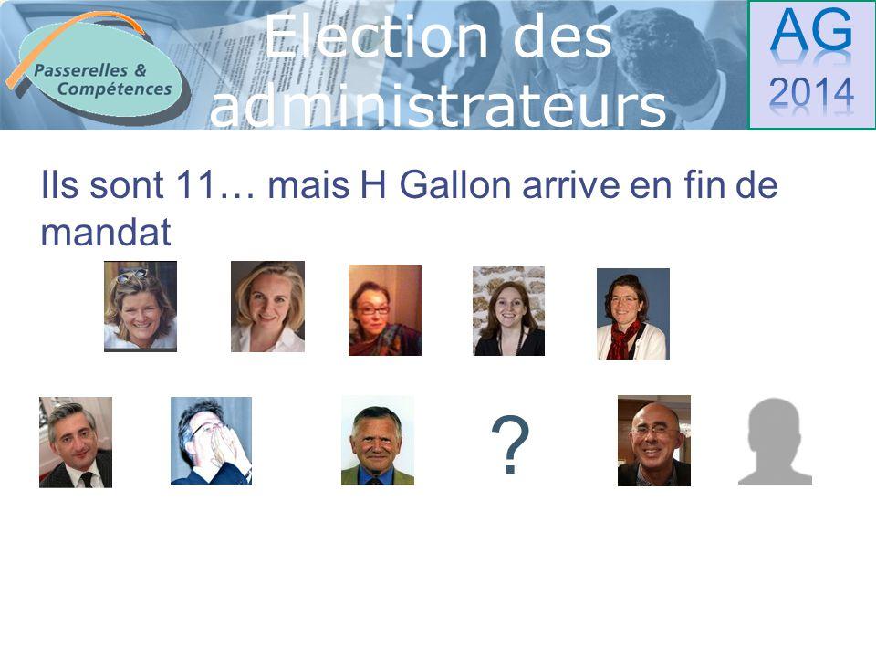 Sommaire Et il y a 2 candidats Election des administrateurs ?
