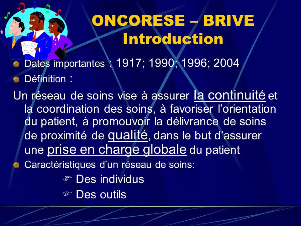 ONCORESE –BRIVE Particularités de la Corrèze La population Le centre hospitalier de Brive L'activité de cancérologie à Brive