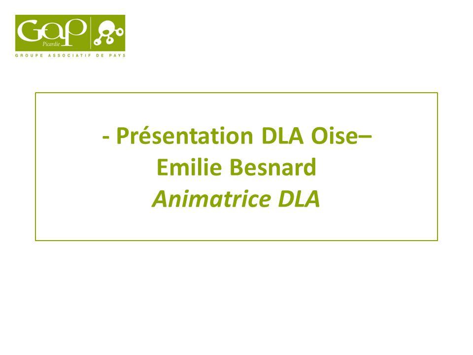 - Présentation DLA Oise– Emilie Besnard Animatrice DLA