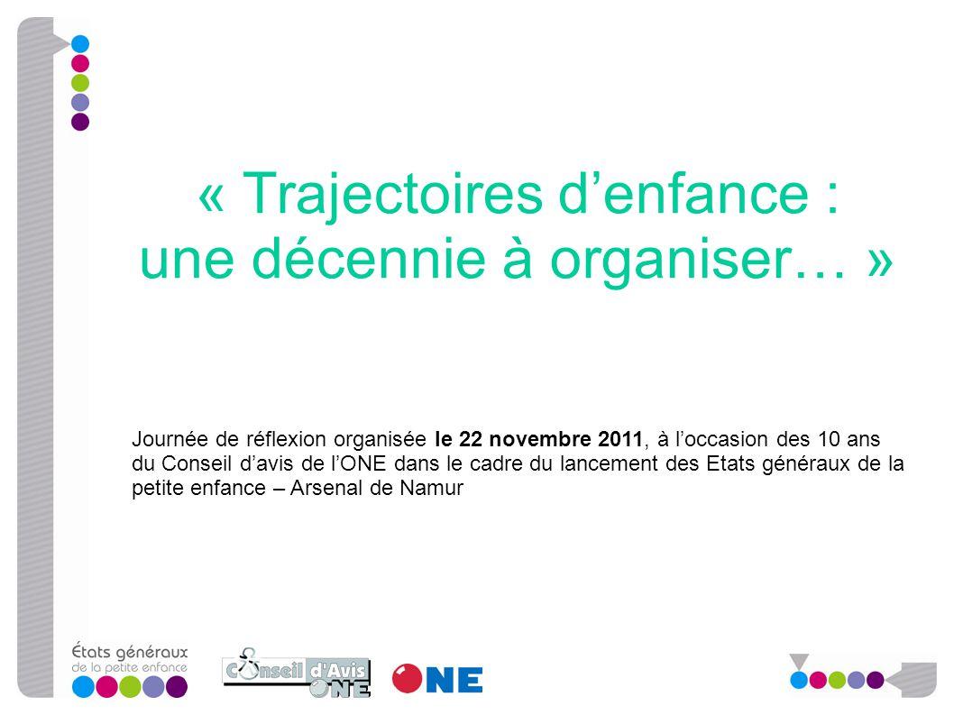 « Trajectoires d'enfance : une décennie à organiser… » Journée de réflexion organisée le 22 novembre 2011, à l'occasion des 10 ans du Conseil d'avis d
