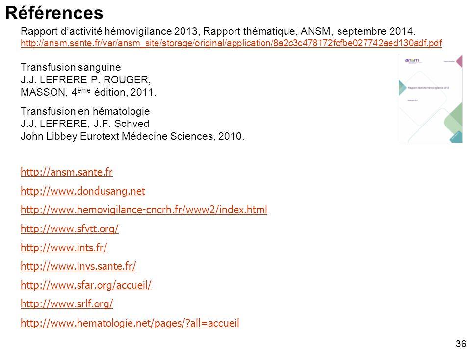 Ac : anticorps Ag : antigène Ansm : Agence nationale de sécurité du médicament et des produits de santé ATNC : agent transmissible non conventionnel B