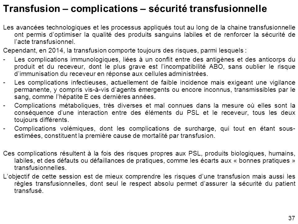 Références Rapport d'activité hémovigilance 2013, Rapport thématique, ANSM, septembre 2014. http://ansm.sante.fr/var/ansm_site/storage/original/applic