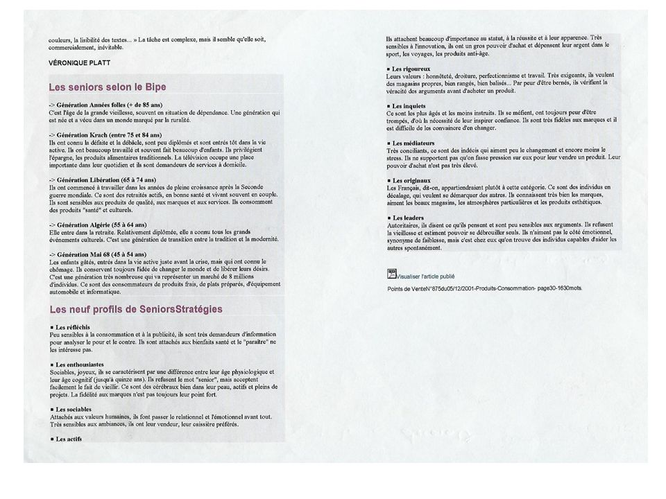 Sensibilité à l'innovation (4/8)  répartition des familles de consommateurs Source : pôle Agria Lorrain