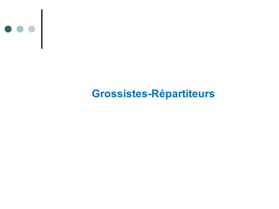 Grossistes-Répartiteurs