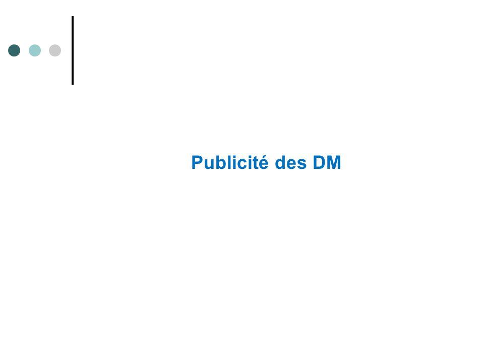 Publicité des DM