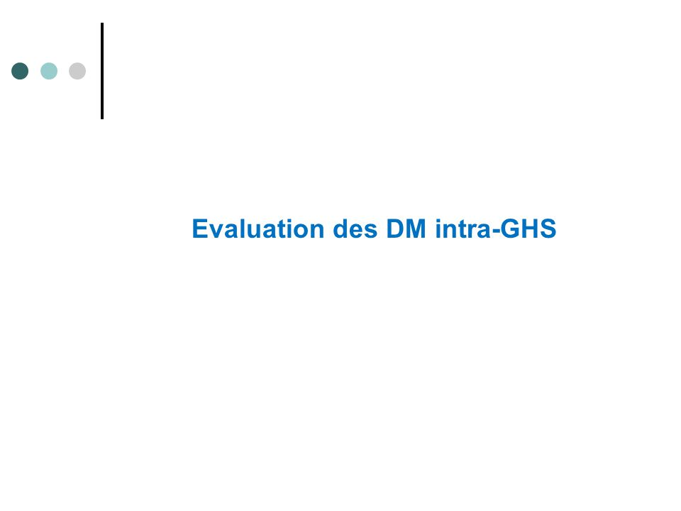 Evaluation des DM intra-GHS