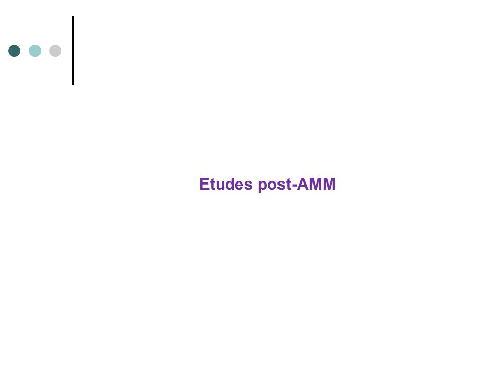 Etudes post-AMM