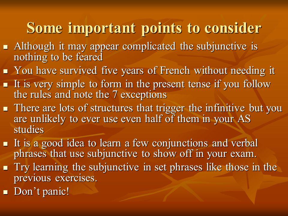 Practice 3 answers Il faut qu'on soit réaliste bien que vous ayez raison quoi qu'il dise avant qu'ils arrivent Je veux que vous sachiez Il est regrett