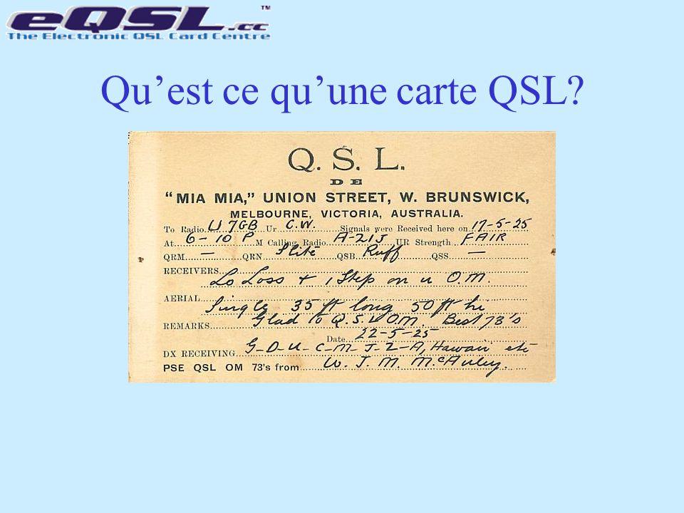 Qu'est ce qu'une carte QSL?