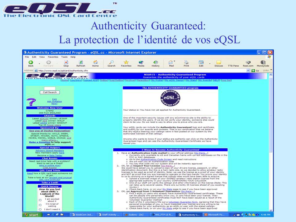 Authenticity Guaranteed: La protection de l'identité de vos eQSL