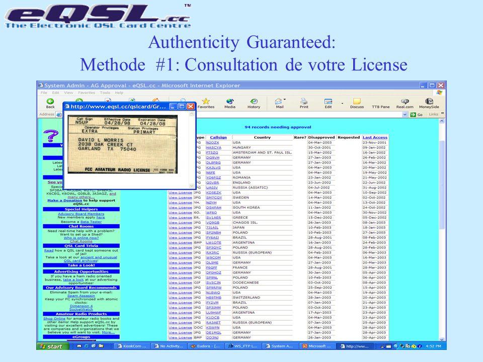 Authenticity Guaranteed: Methode #1: Consultation de votre License