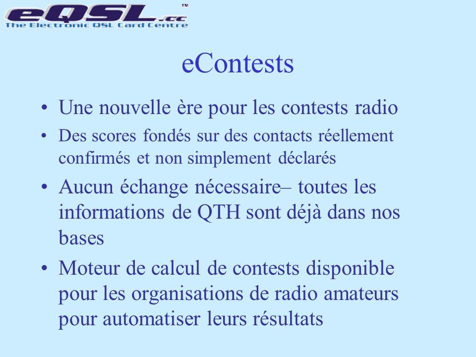 Une nouvelle ère pour les contests radio Des scores fondés sur des contacts réellement confirmés et non simplement déclarés Aucun échange nécessaire–