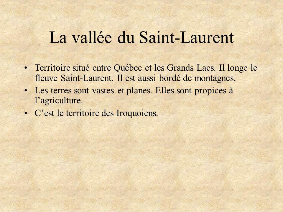 La vallée du Saint-Laurent Territoire situé entre Québec et les Grands Lacs.