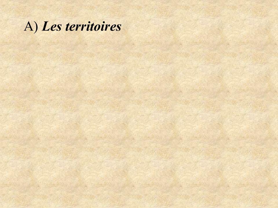 A) Les territoires