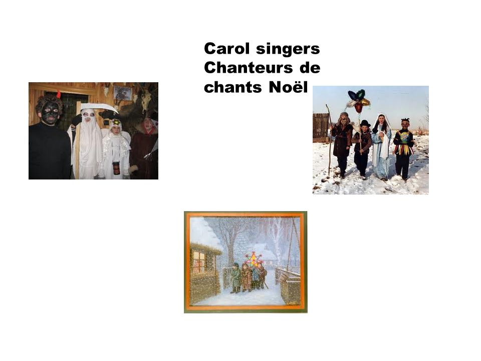 Carol singers Chanteurs de chants Noël