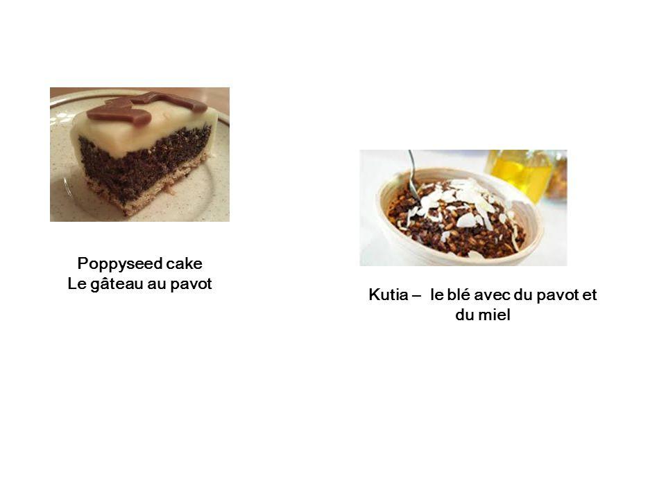 Kutia – le blé avec du pavot et du miel Poppyseed cake Le gâteau au pavot