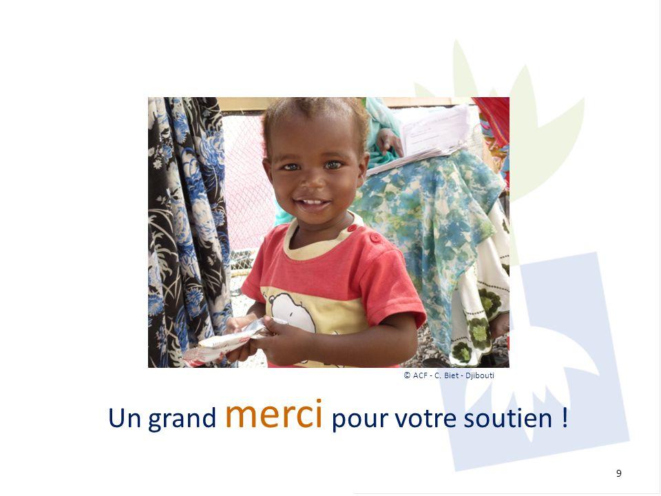 Un grand merci pour votre soutien ! 9 © ACF - C. Biet - Djibouti