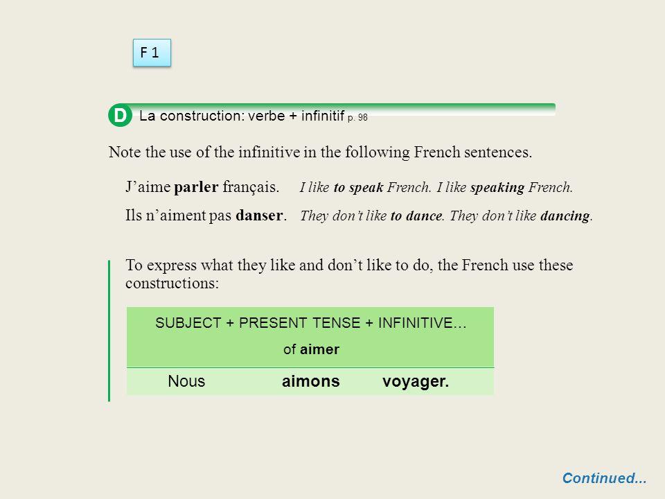 Negative sentences are formed as follows: Home SUBJECT + ne + VERB + pas n' (+ VOWEL SOUND) Éric et Anne ne sont pas là. Michèle n'est pas avec moi. L