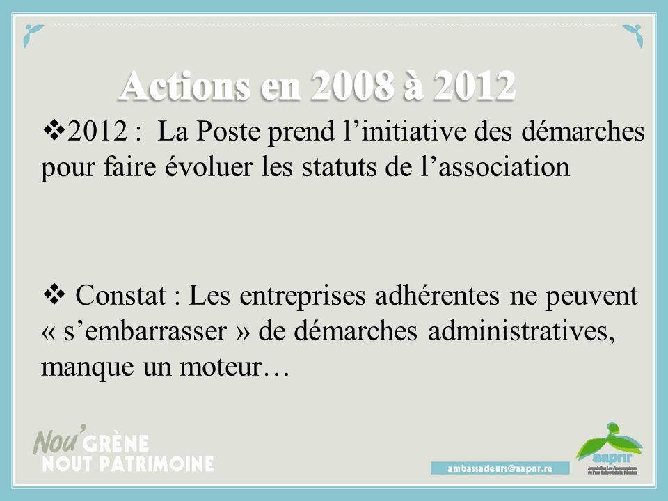  2010/2011 : Engouement général : collectors de timbres, affiches dans les vitrines des entreprises, les salariés affichent dans leur bureau les post