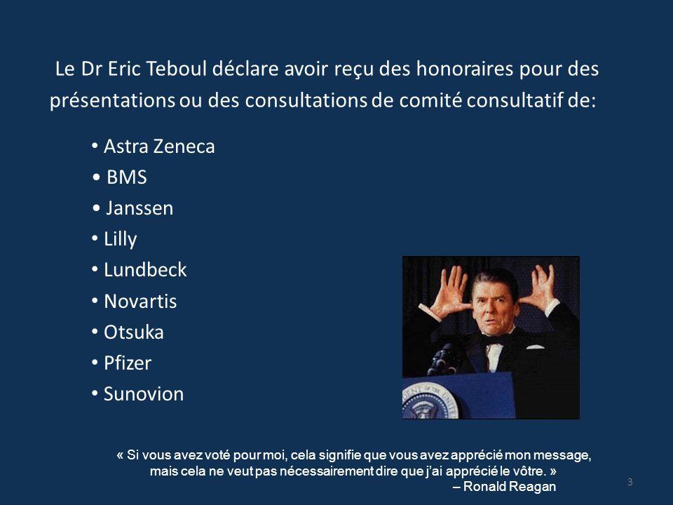 Le Dr Eric Teboul déclare avoir reçu des honoraires pour des présentations ou des consultations de comité consultatif de: Astra Zeneca BMS Janssen Lil