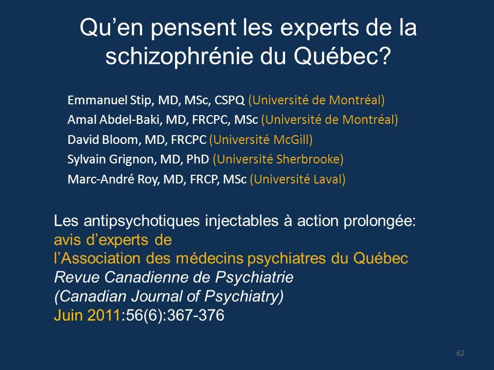 Emmanuel Stip, MD, MSc, CSPQ (Université de Montréal) Amal Abdel-Baki, MD, FRCPC, MSc (Université de Montréal) David Bloom, MD, FRCPC (Université McGi