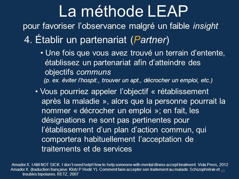 4. Établir un partenariat (Partner) Une fois que vous avez trouvé un terrain d'entente, établissez un partenariat afin d'atteindre des objectifs commu