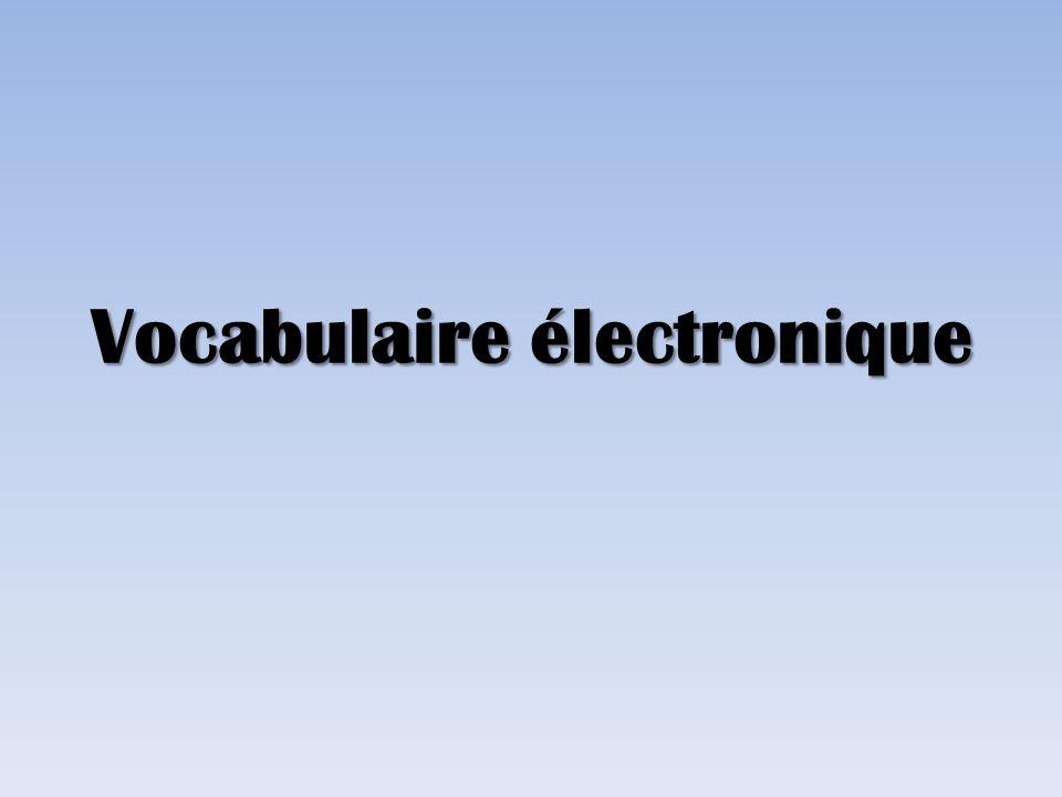 Vocabulaire électronique