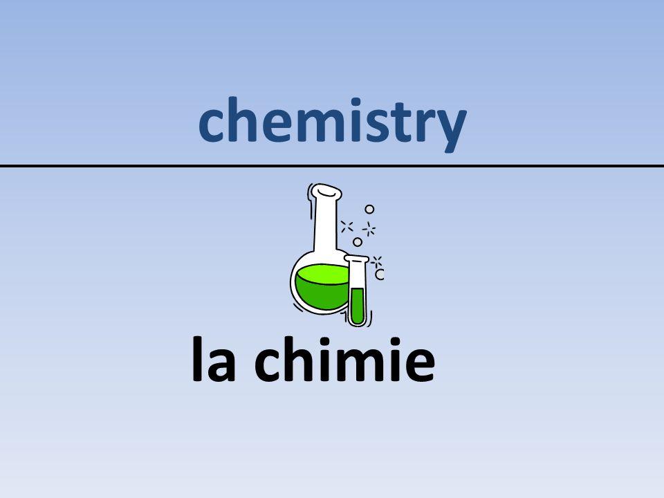 chemistry la chimie