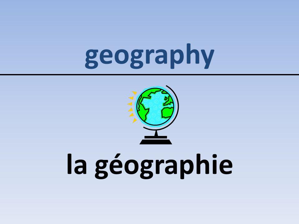 geography la géographie