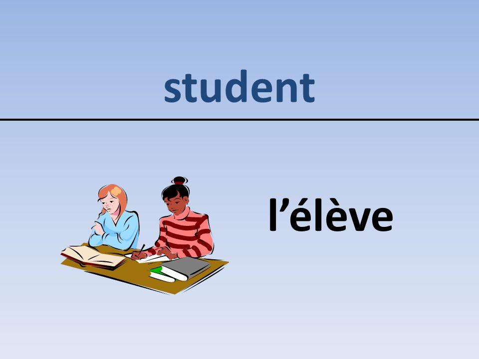 student l'élève
