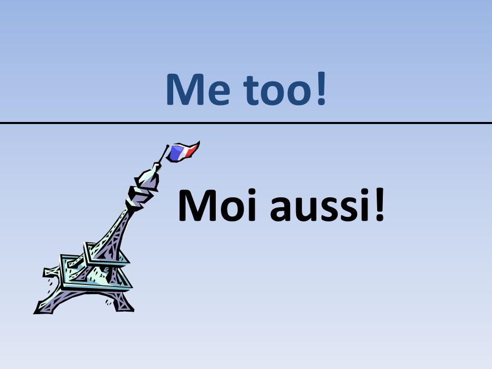 Me too! Moi aussi!