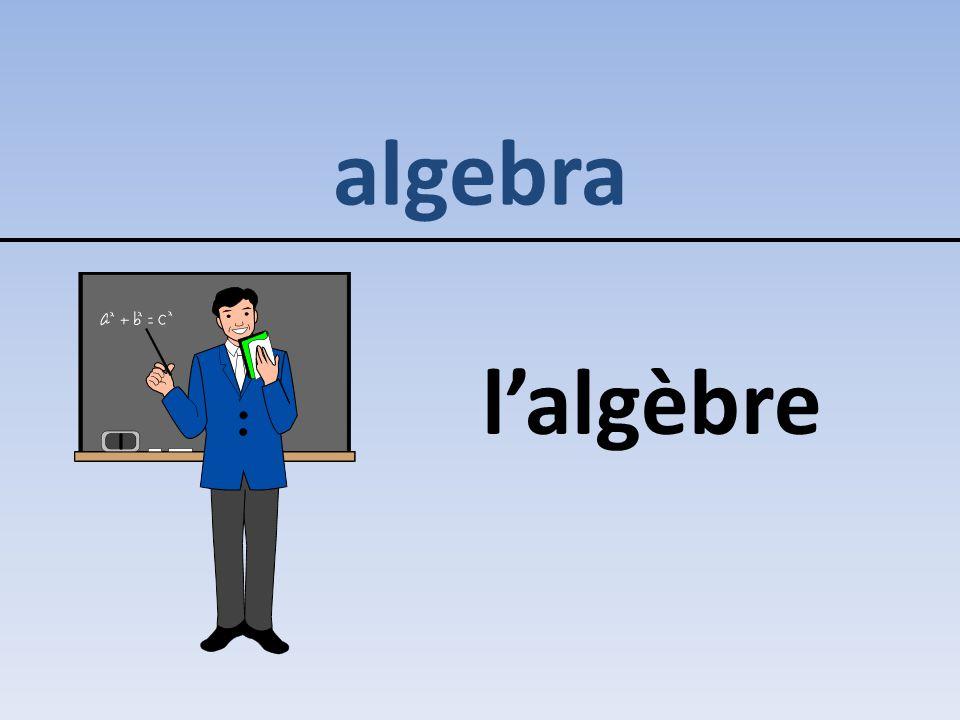 algebra l'algèbre