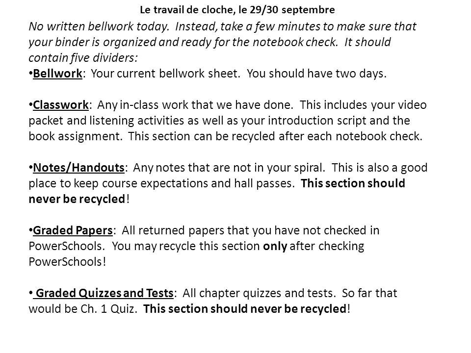 Le travail de cloche, niveau I, le 1/2 octobre septembre (#3) Write out the following French phone numbers: 1.zéro cinq.