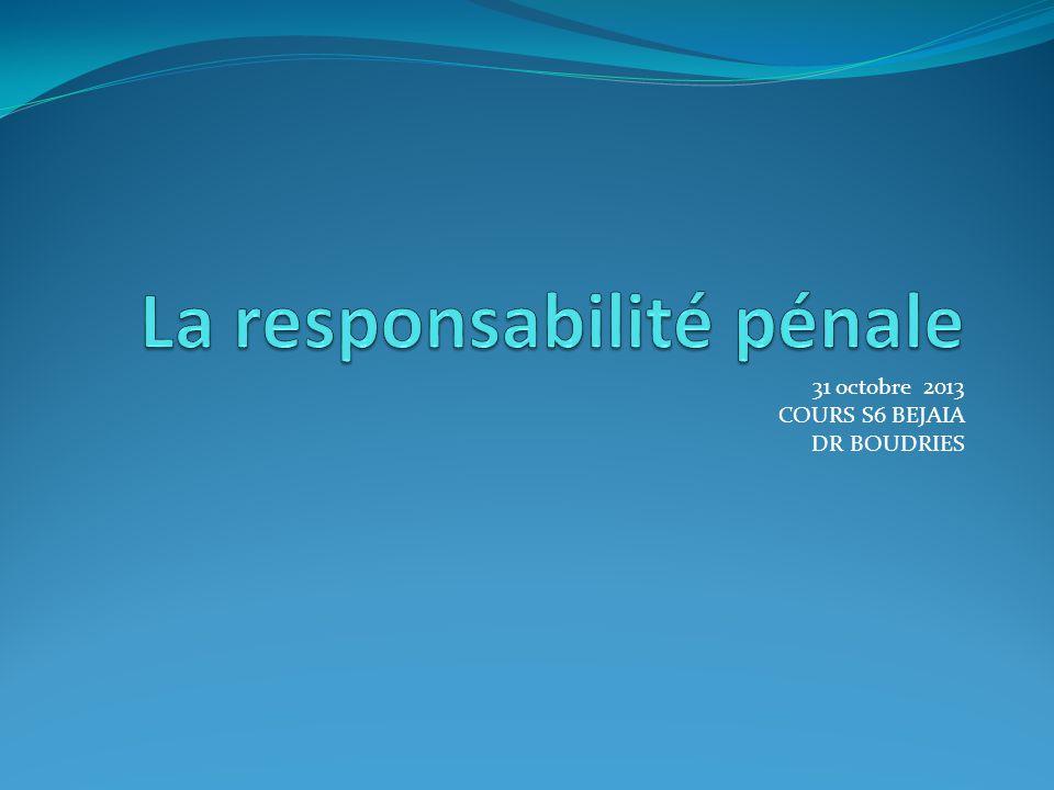 INTRODUCTION Il existe quatre types de responsabilités: La responsabilité pénale La responsabilité ordinale La responsabilité civile La responsabilité administrative
