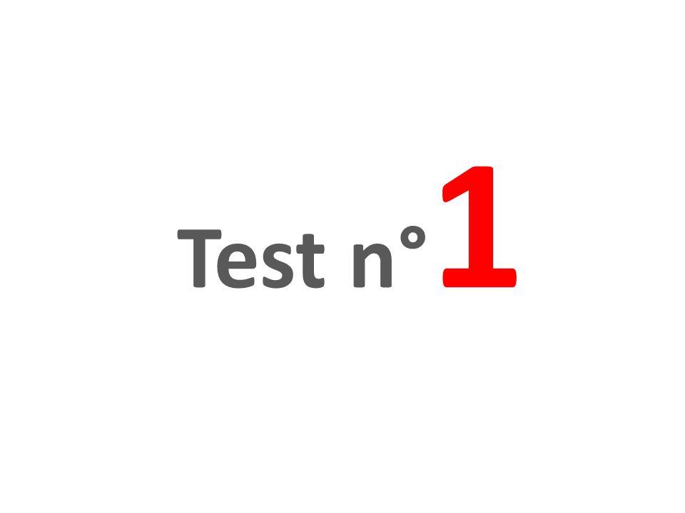 Test n° 1