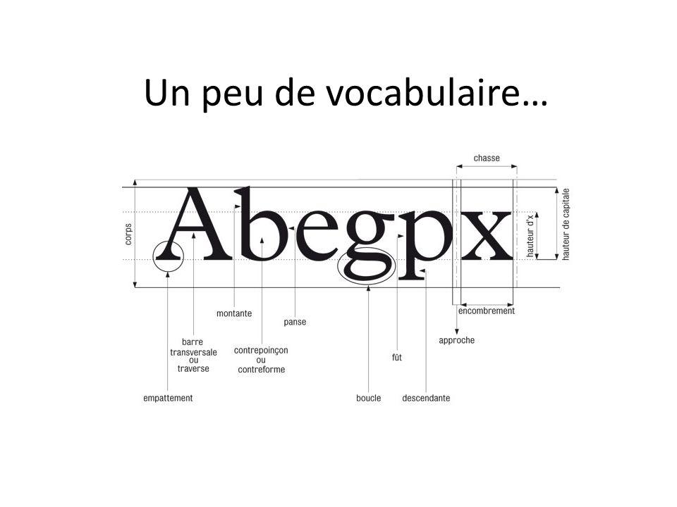 Un peu de vocabulaire…