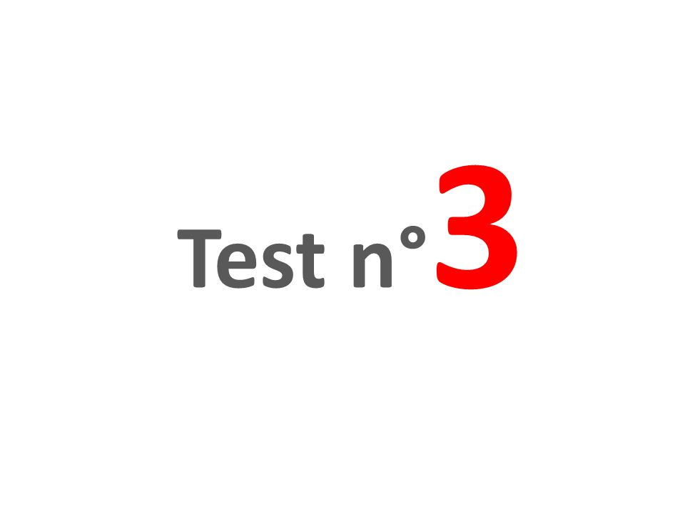 Test n° 3