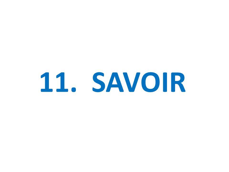 11. SAVOIR