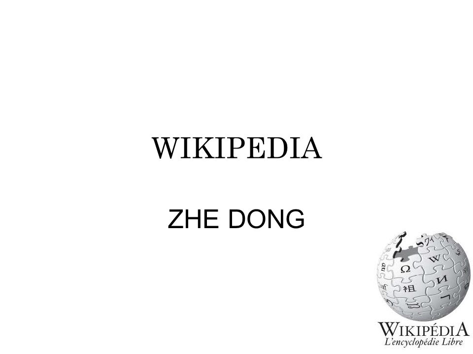 WIKIPEDIA ZHE DONG