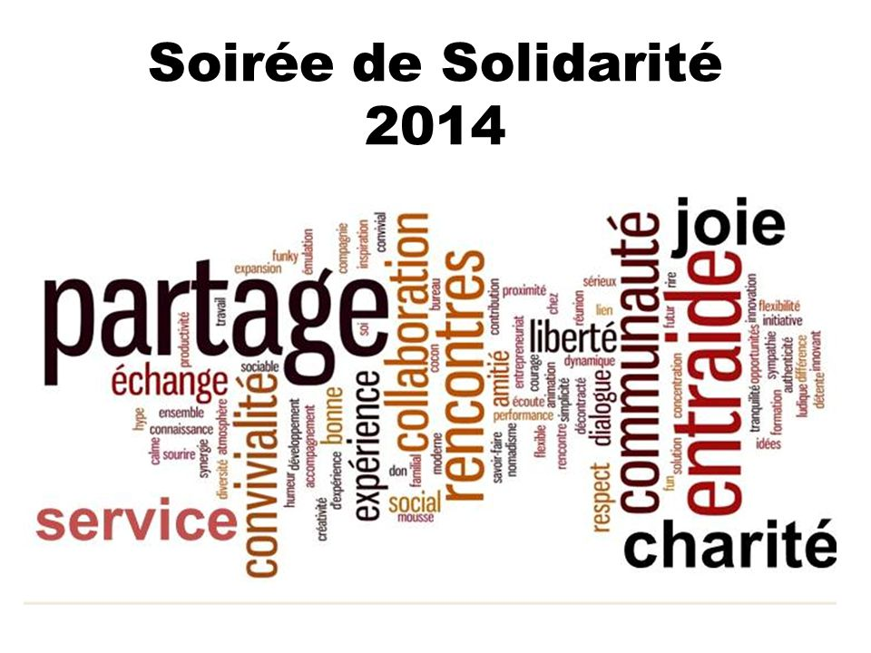 Soirée de Solidarité 2014