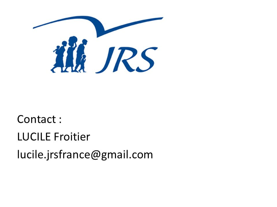 Contact : LUCILE Froitier lucile.jrsfrance@gmail.com