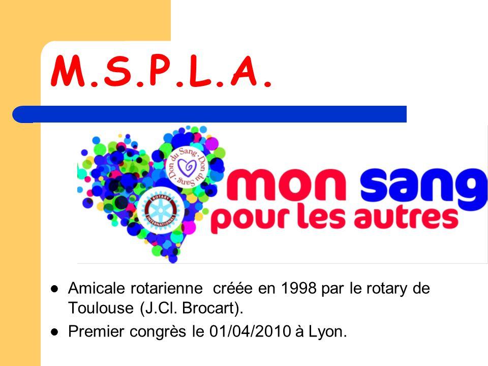 M.S.P.L.A.Amicale rotarienne créée en 1998 par le rotary de Toulouse (J.Cl.