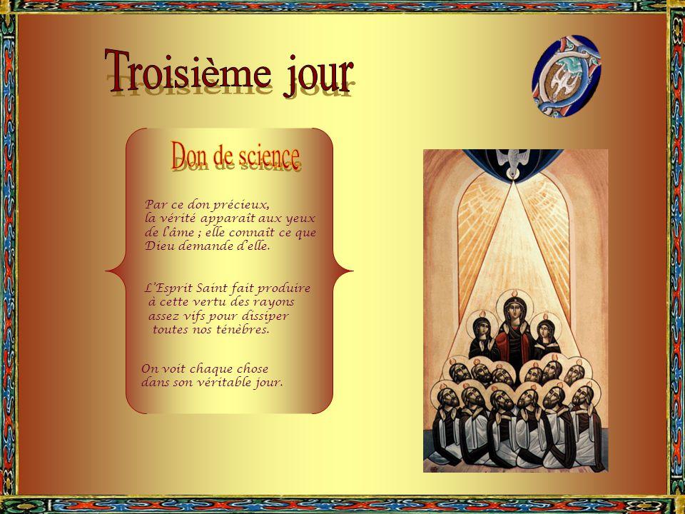 L'Esprit Saint produit en l'homme le don de piété, en lui inspirant un retour filial vers son Créateur.