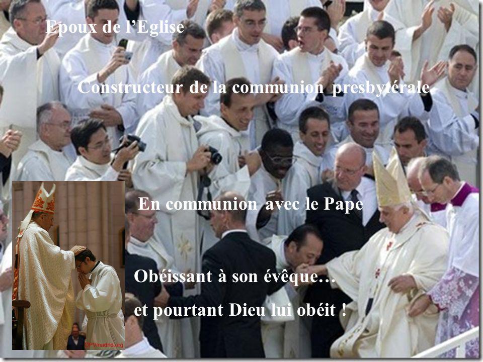 Incarnant l'Amour de Dieu dans le monde Soldat du Christ Lieutenant de l'évêque, successeur des Apôtres