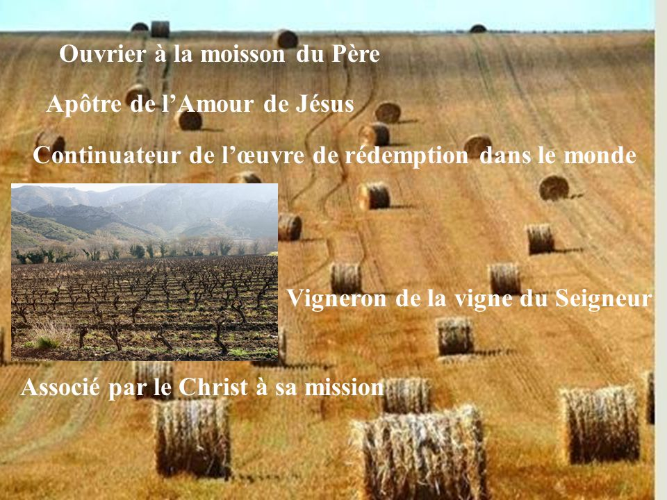 Pêcheur d'hommes Passionné de Dieu et du salut des âmes Pressé de tout laisser pour Le suivre Appelé par le Christ